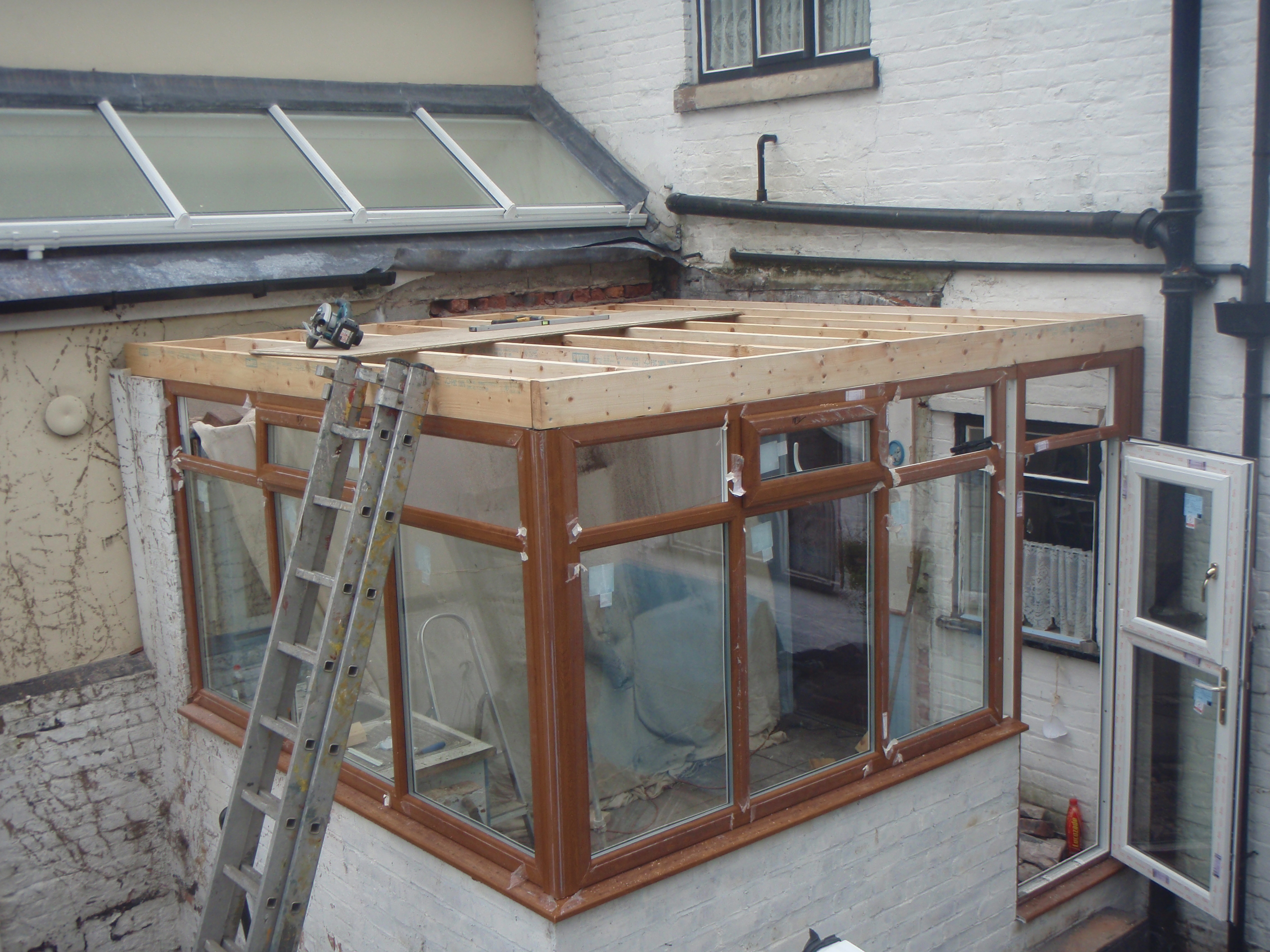Bury New Build Flat Roof Joists Falcon Flat Roofing