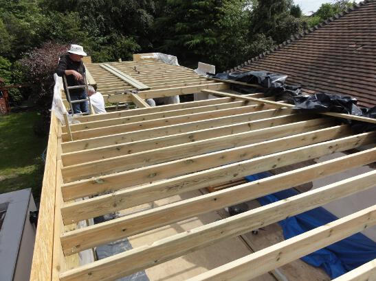 Projects Case Studies on shed construction project framing rafters