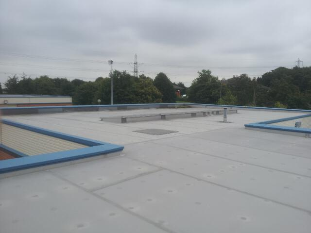 1 Aged Trocal Roofing System Falcon Flat Roofing